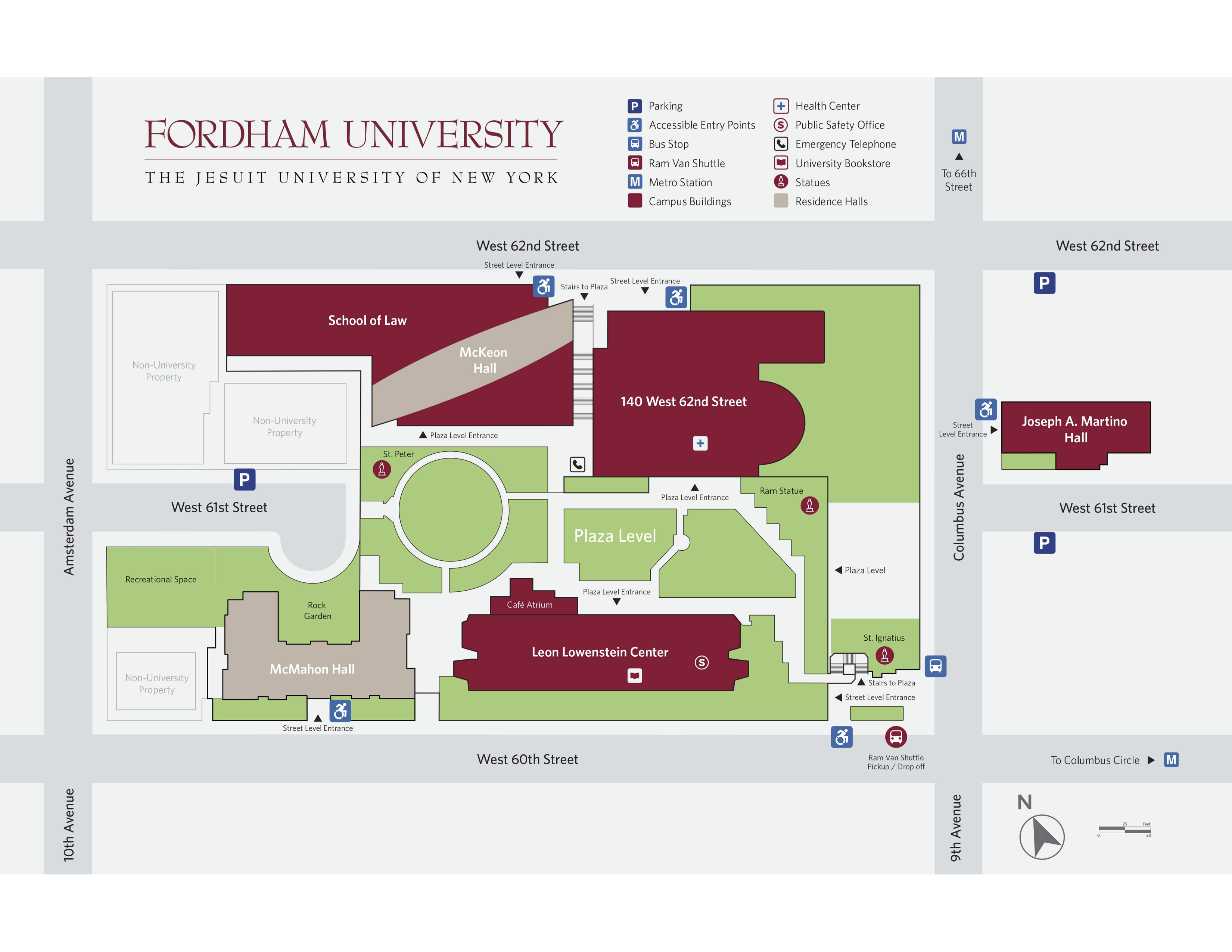 Campus Map Fordham.Travel Information Mapping In Justice